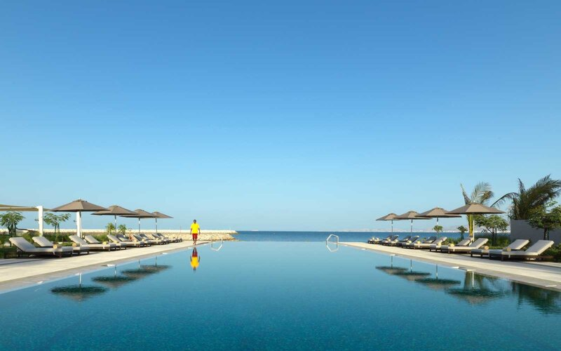 Pool at the Kempinski Hotel Muscat, in Oman