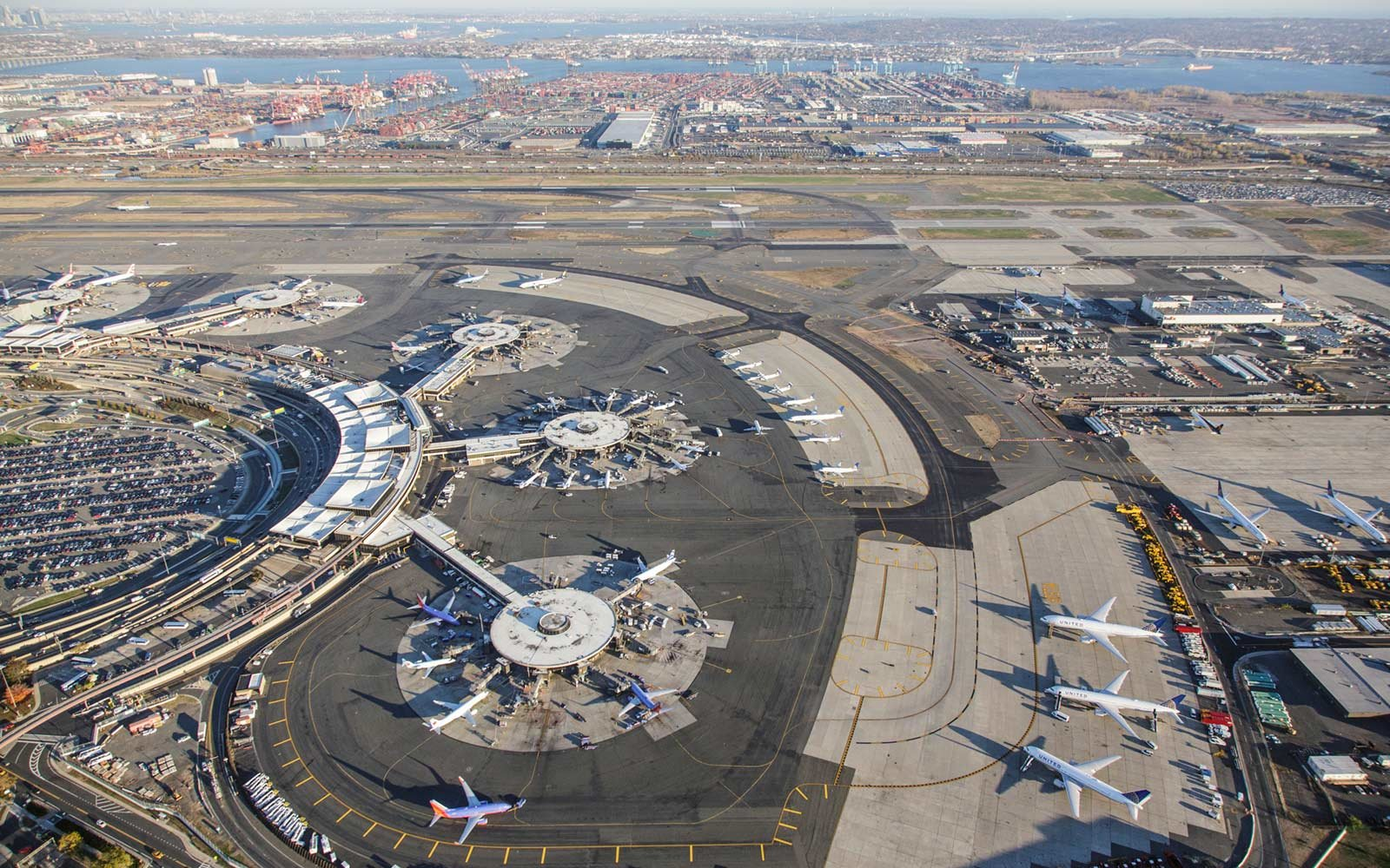 Aerial of Newark Liberty International Airport