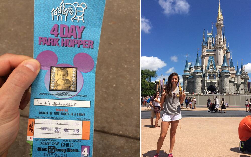Woman uses a pass from 1994 to get into disney world travel leisure 22 year old disney park pass publicscrutiny Image collections