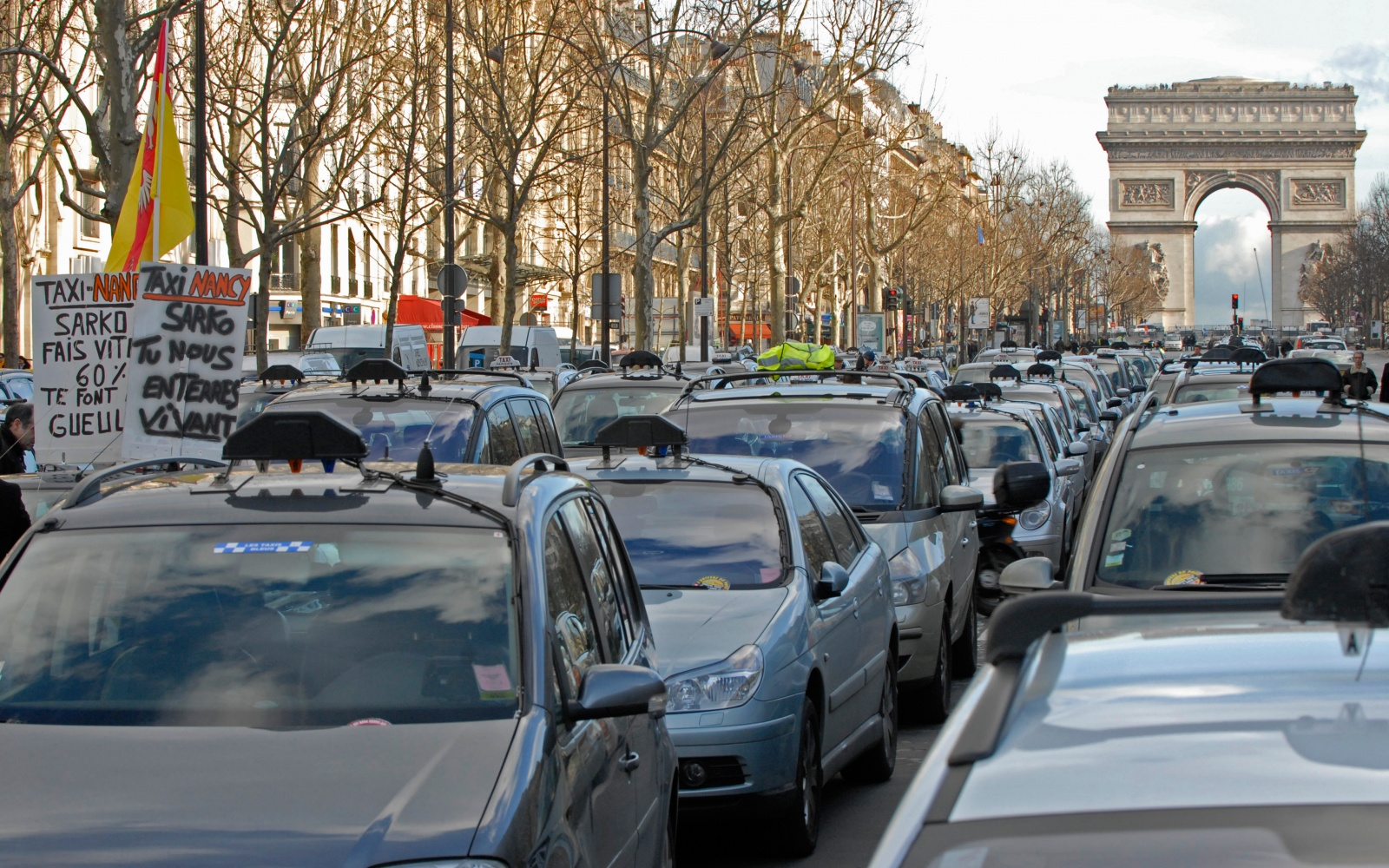 Image result for taxi strike paris 2017