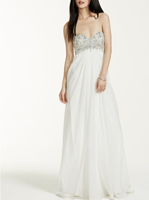 The most flattering wedding dress silhouettes for petites instyle petite wedding dresses junglespirit Choice Image