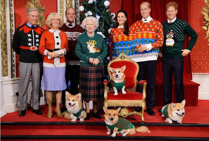 royal family ugly sweaters lead