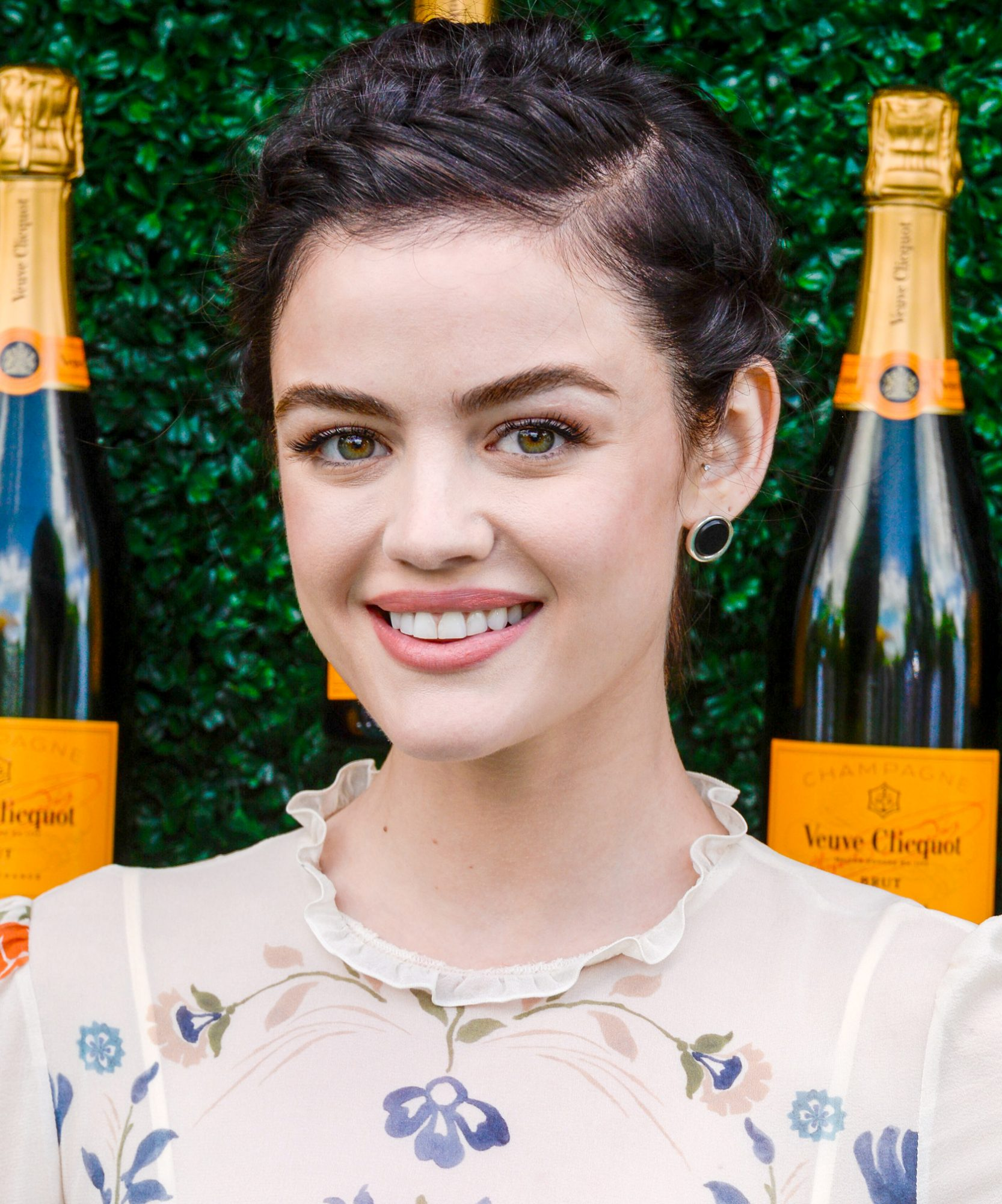 <p>Lucy Hale's French Braids </p>