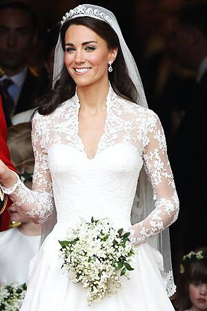 Kate Middleton Wedding Dress Picture Royal