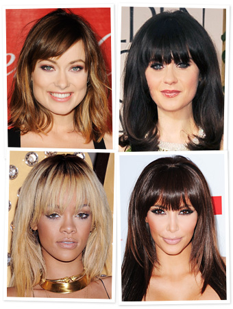 Thinking About Bangs Try Them Virtually Instyle Com