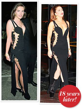 Lady Gaga Wears The Iconic Versace Safety Pin Dress Instyle