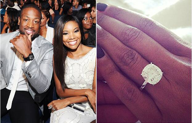 Gabrielle union and dwyane wade are engaged see the big rock dwyane wade and gabrielle union junglespirit Image collections