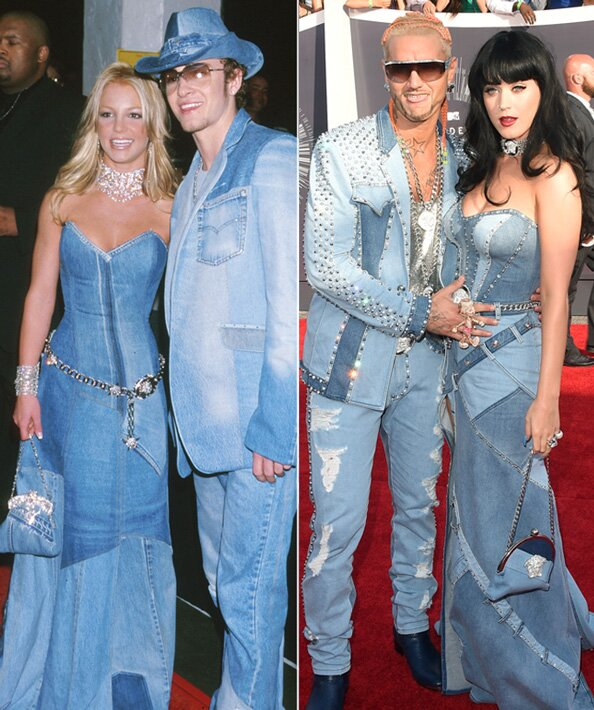 Katy Perry Rocks Britney Spears All-Denim Gown | InStyle.com