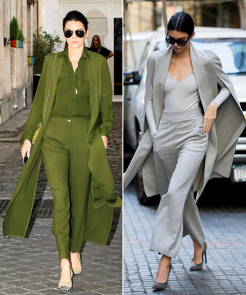 Kendall Jenner in monochromatic