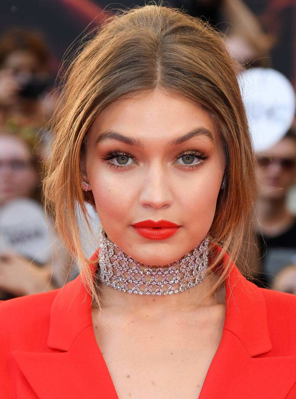 Gigi Hadid\'s Red Lips and Nails | InStyle.com