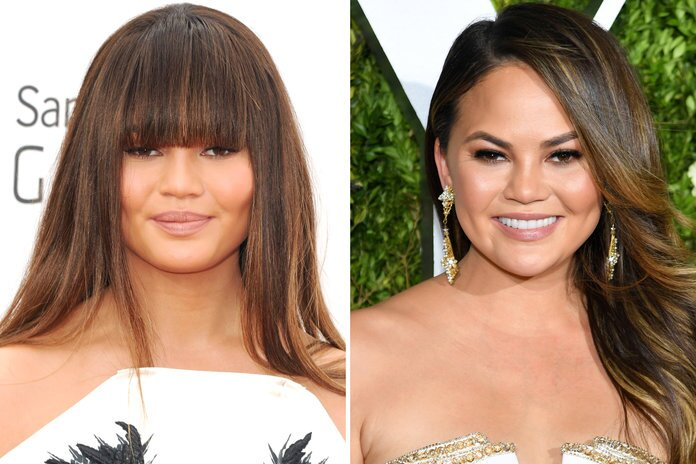 Celebrity Bangs Before And After Pictures Instyle