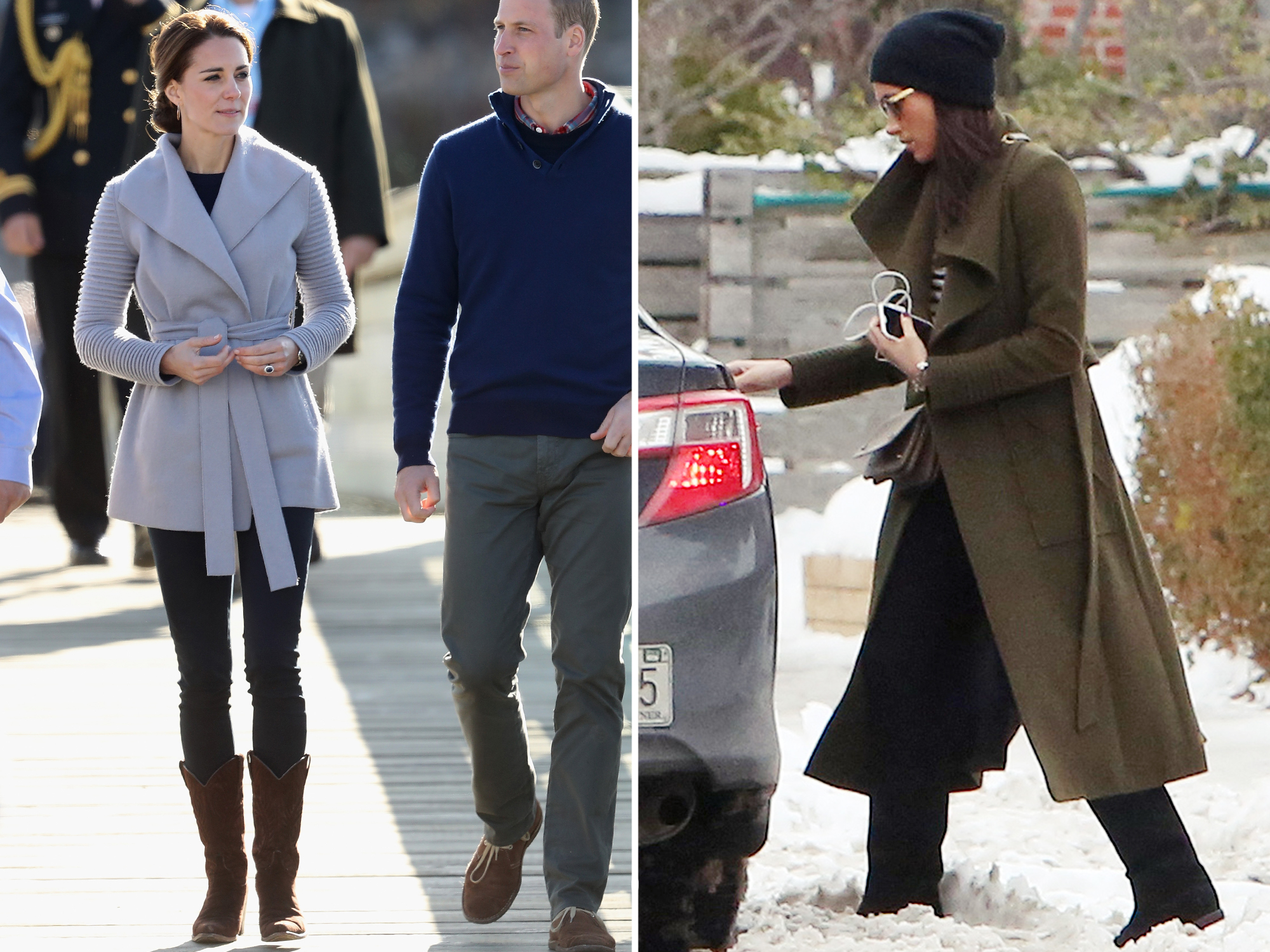 Kate Middleton Wears a Chic Gray Coat to Church with the Queen, as Prince George Goes on His First Grouse Shoot