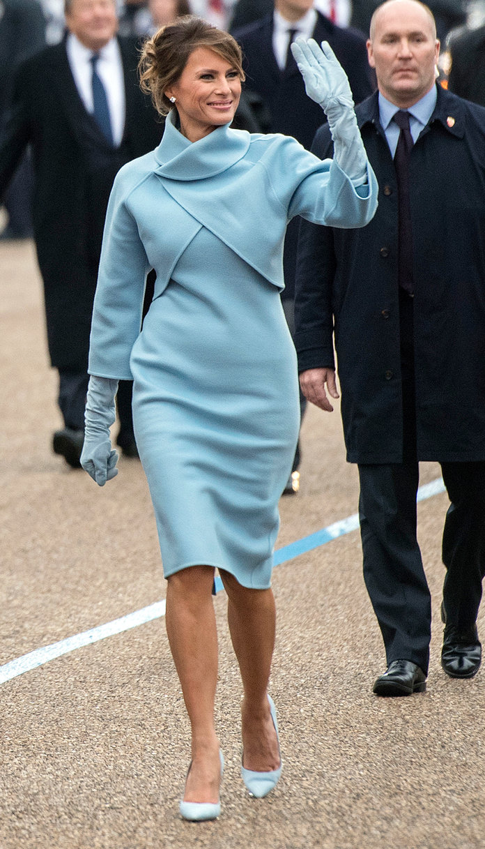 Slikovni rezultat za melania trump on inauguration dress
