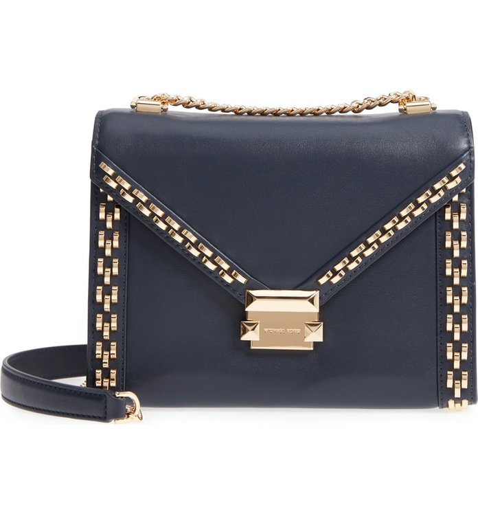 Michael Kors Large Embellished Leather Shoulder Bag