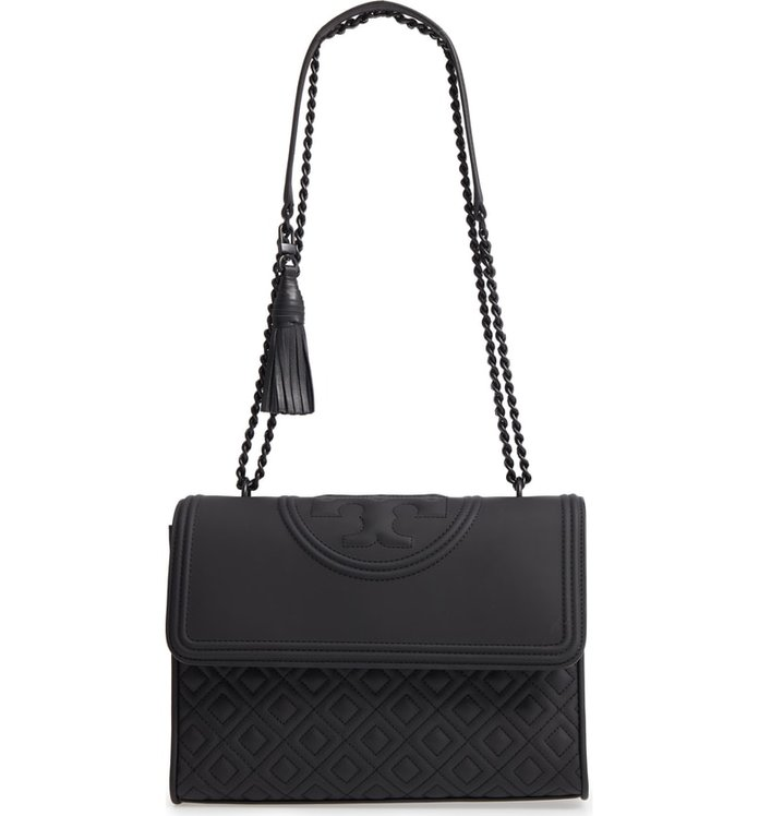 Tory Burch Fleming Matte Quilted Faux Leather Convertible Shoulder Bag