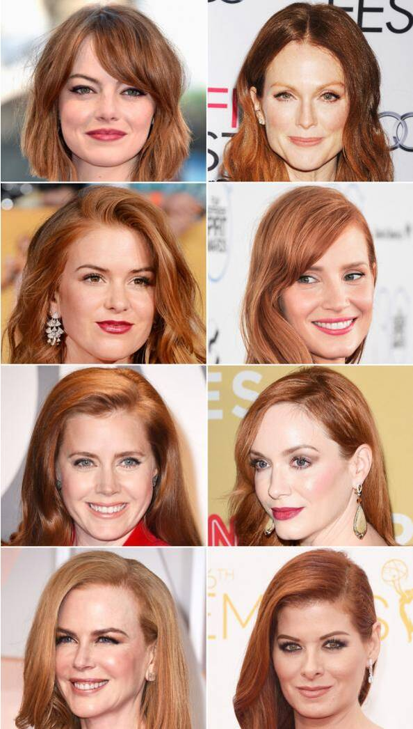 Hollywood Red Heads Nautral Or Dyed Hair Instyle