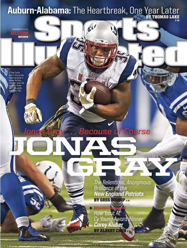 Patriots running back Jonas Gray featured on SI cover  bfb4f53cb