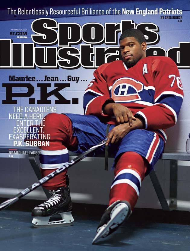 Si Cover Canadiens Defenseman Pk Subban Sicom