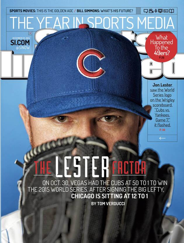 Chicago Cubs signed Jon Lester with DVD showing team winning World ... 7c462a3ced4a