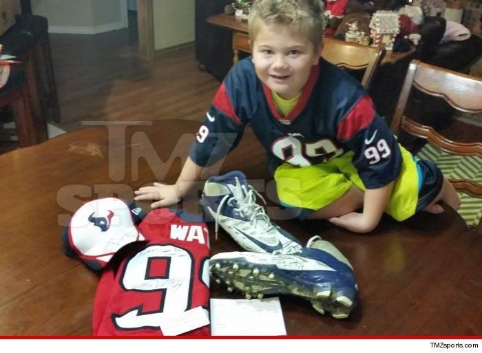 factory price a935b 38fe5 Houston Texans' J.J. Watt sends game-worn cleats to kid who ...