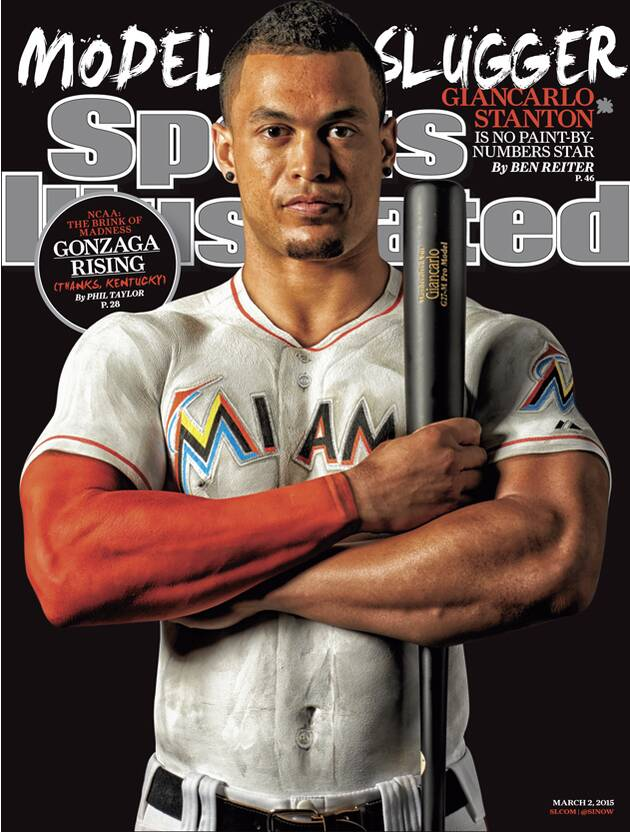 b21ad31ae SI cover  Giancarlo Stanton appears in body paint