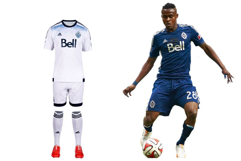 "The Vancouver Whitecaps new primary uniform is meant to be experienced up close. It's slogan heavy. ""Our All. Our Honour."" appears inside the neck and on the hip. ""SINCE 1974"" is on the back. The thin, diagonal pinstripes that featured on the previous home kit have been replaced by light blue shading designed to represent Vancouver's water and mountains. It's all a bit too subtle. The shirt will look nice with jeans, but in the end, Vancouver's all-white kit—and the holdover mono-navy secondary—simply blends in."