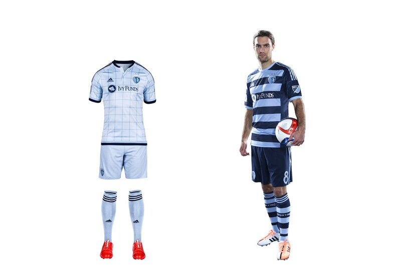 """From irrelevant to trendsetting, SKC has profited from one of the most successful sports rebrands in recent history. The club now must share light blue with NYCFC, but Sporting still stands out. The new home set is a departure form the bicolor """"state line"""" uniform of 2013-14 and is anchored by a """"fashion-forward window pane pattern"""" that's almost as preppy as the recent argyle alternate kit. The secondary uniform is stunning. The hoops, which mirror the stripes on the club crest, highlight one of the most eye-catching sets in MLS history. It'll be tough to see it go after this season."""
