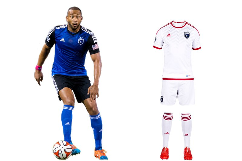 """""""Earthquakes"""" is an appropriate moniker for a club that's experienced so much upheaval. While the new Avaya Stadium offers stability, the brand remains in flux. SJ's '14 overhaul produced a beautiful blue-and-black primary kit that's already a modern classic. But the logo, awkwardly anchored by """"Quakes""""—a nickname of a nickname—lacks gravitas. We liked the re-introduction of the NASL-era red, which inspired last year's away kit. That's been replaced by a new white secondary set (yes, another one). It lacks the creativity, individuality and ambition that should be associated with a Bay Area club on the rise."""