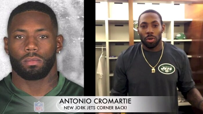Video new york jets players help girl ask boy to prom si screenshot from youtube ccuart Choice Image