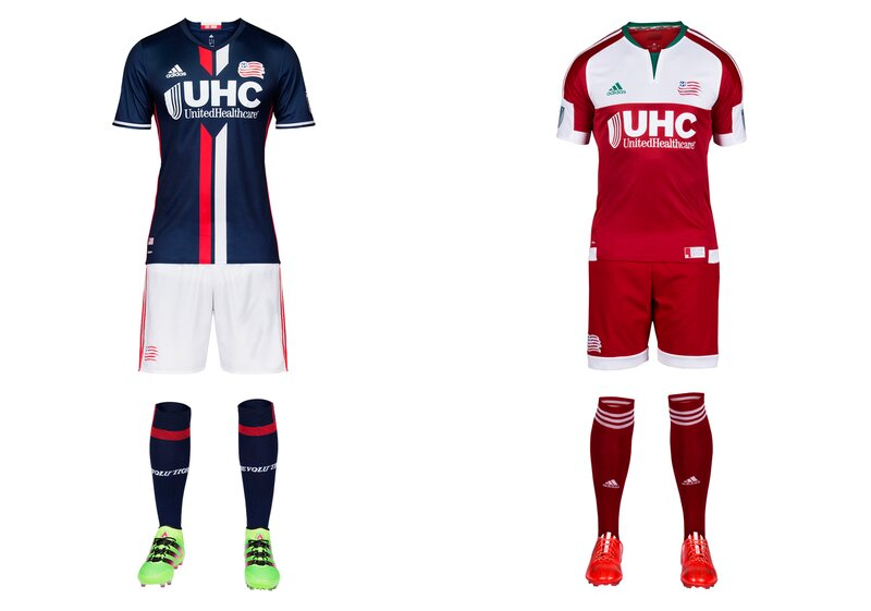 No team embraced the post-1996 regression to the bland like the Revs, who wore the most nondescript uniforms in MLS for years. That changed in 2014 with the addition of white shorts to the navy blue home kit. A total departure from the old all-white aways—a red homage to the old regional flag—followed last year. This season's primary represents another step forward. The white shorts remain, thankfully, while a beautiful new jersey features red and white stripes down the center. The club said the look is inspired by American Revolution-era jackets. The secondary kit carries over. The inspiration there is commendable but the boxy execution is lacking.