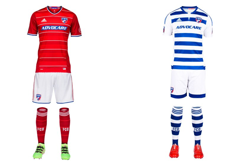 FCD's new home kit is the nicest in club history. The hoops that accompanied the 2005 rebrand were a good idea but always poorly executed, and Dallas gave up on them two years ago. But the common mono-red look was a failure, leading to this year's stylish primary. The pinstripe white hoops are sleek and distinctive and aren't overwhelmed by Adidas's panels and seams. The uniform pops with the addition of white shorts. Hopefully FCD takes the same approach with the blue-and-white secondary kit next year.