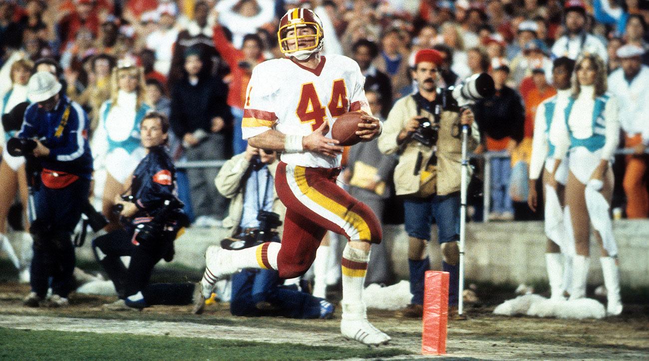 John Riggins marquant le touché victorieux au Super Bowl XVII