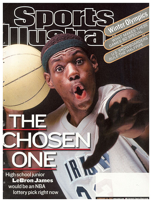 In 2002, LeBron James was a high school phenom at St. Vincent-St. Mary High in Akron, Ohio. He would be drafted with the first pick in the NBA Draft right out of high school by his hometown Cleveland Cavaliers and, well, you know the rest...