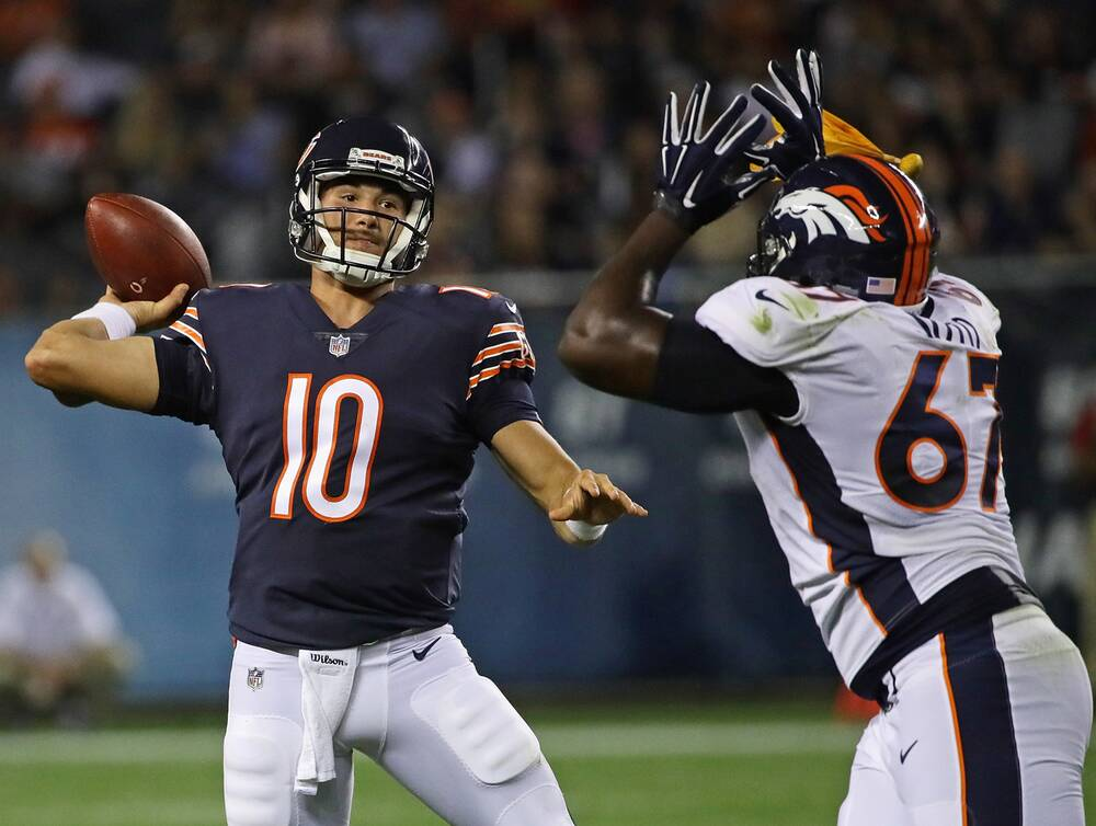 c58990b0ba1 Mitch Trubisky played well in his Bears debut, but the rookie quarterback  still has a