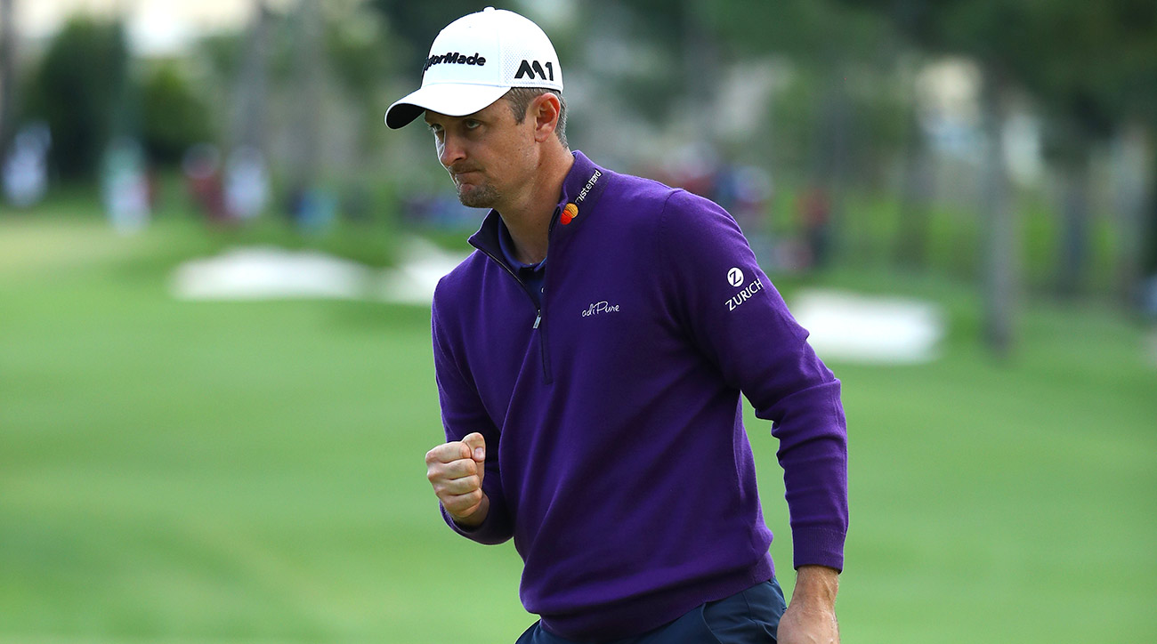 Justin Rose made a handful of late birdies and won for the second time in as many weeks.