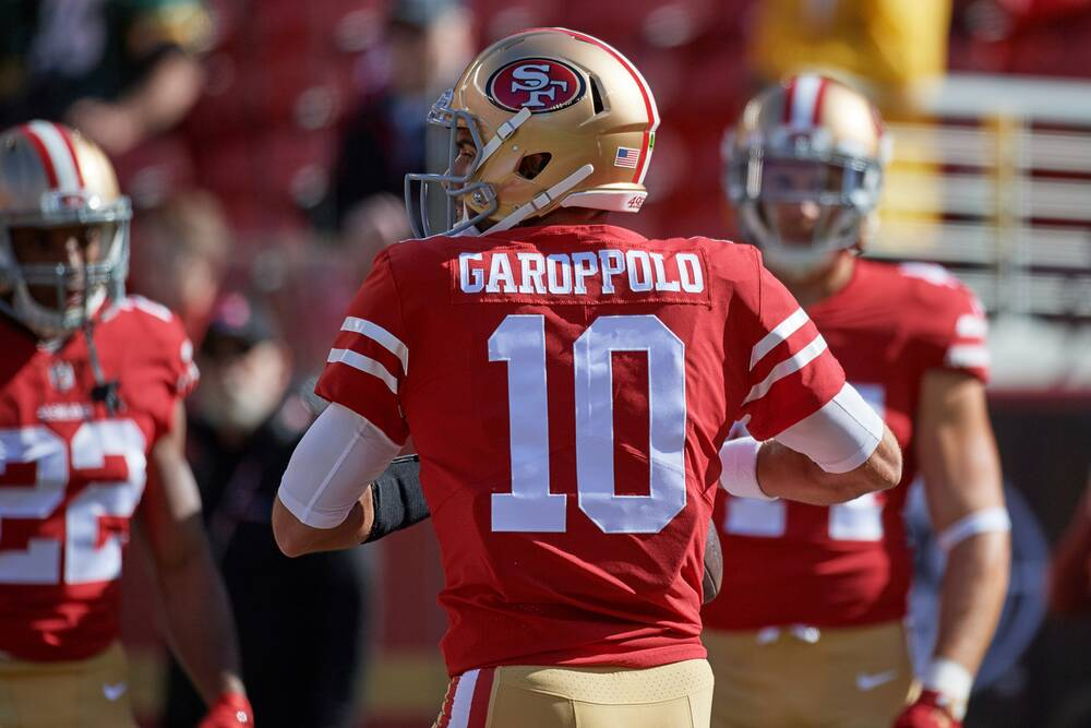 4bf6df6a6 Four Downs  49ers Giving Jimmy Garoppolo Time  Don t Overlook Rams Receiver  Overhaul