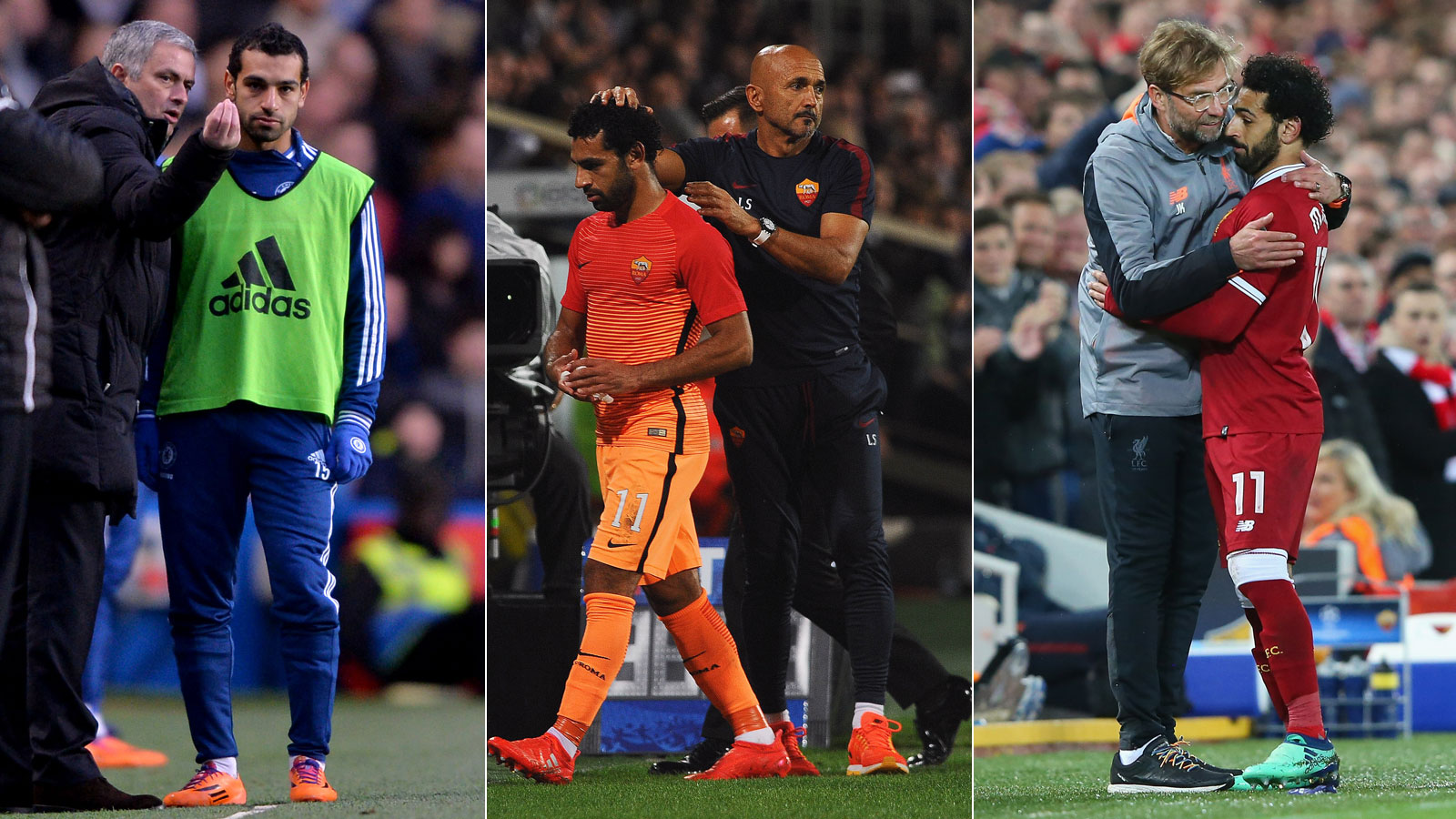 Mohamed Salah has played for Jose Mourinho, Luciano Spalletti and Jurgen Klopp