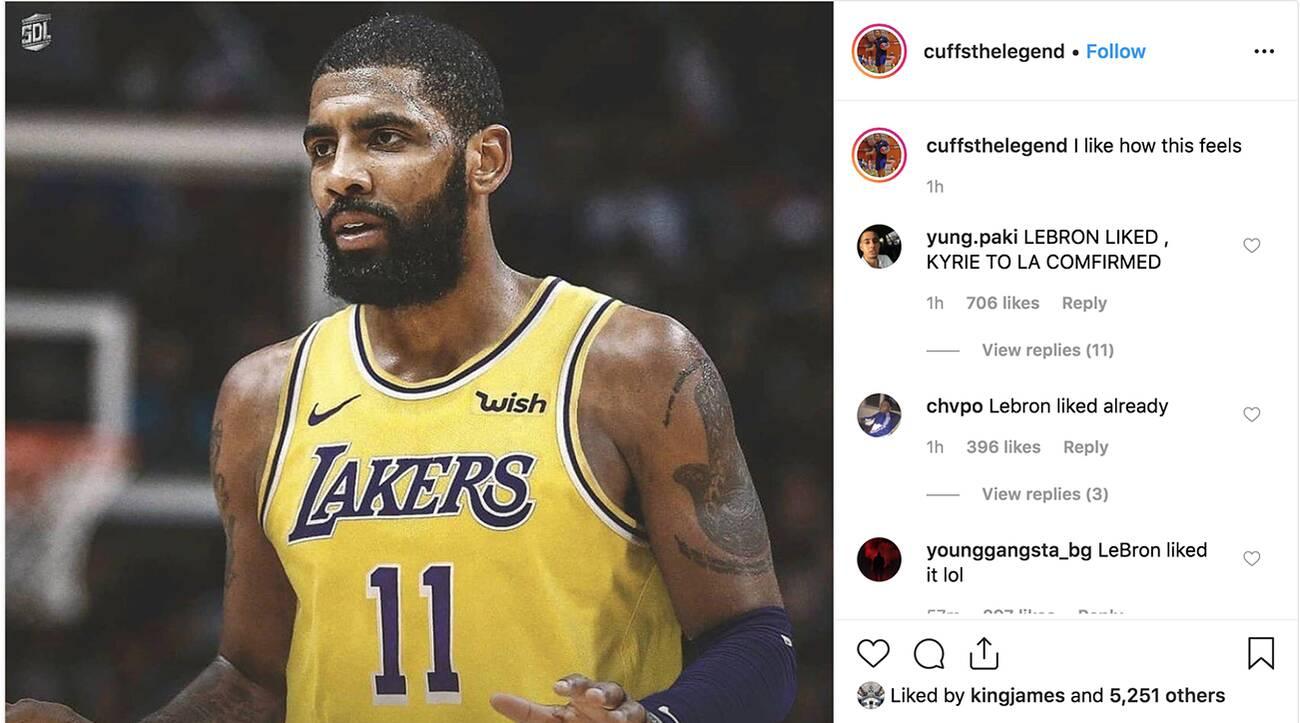 Chỉ vì một cái like trên Instagram, LeBron James đã khiến cư dân mạng phát cuồng