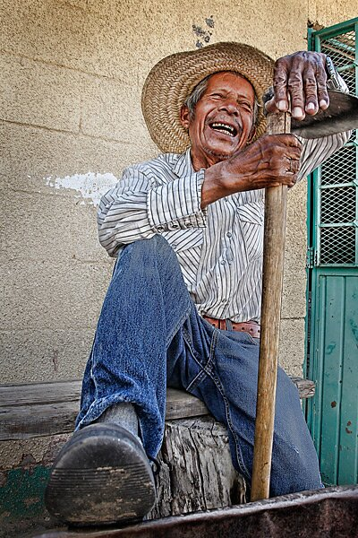 At age 78, Aristeo Garcia is the oldest member of the Campestre grounds  crew.
