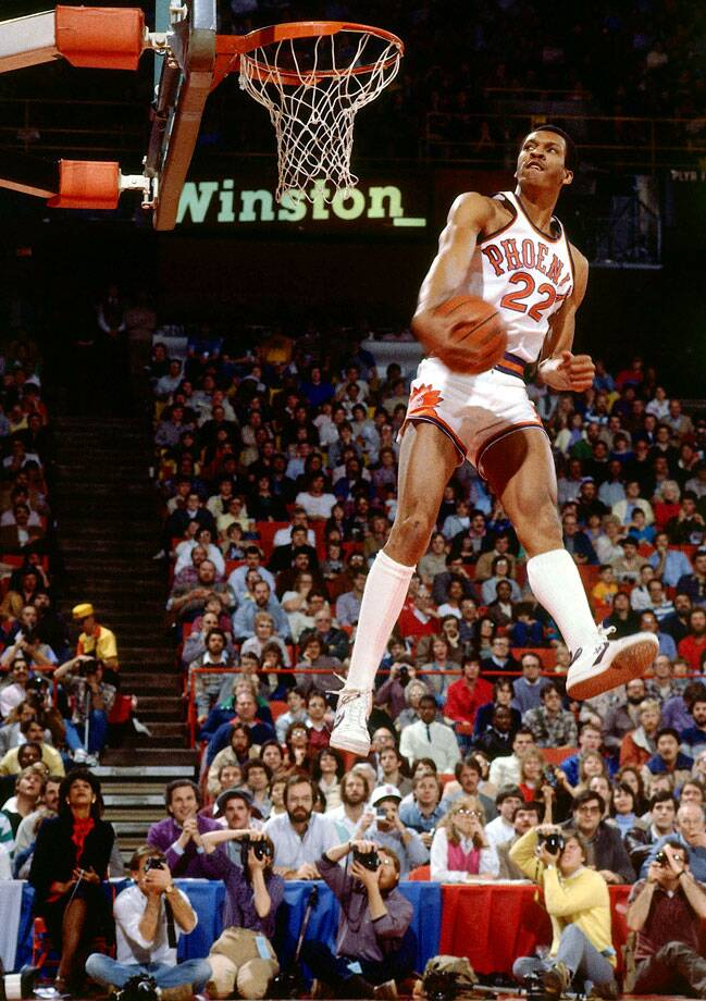 Nance bested Julius Erving and Dominique Wilkins in the NBA s first dunk  contest. The nine 9ec17dec7ec0