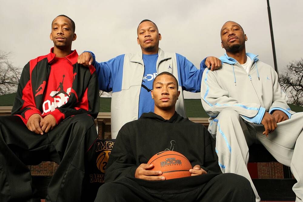 2b8a46efc0e Derrick Rose learned how to play from his older brothers Dwayne
