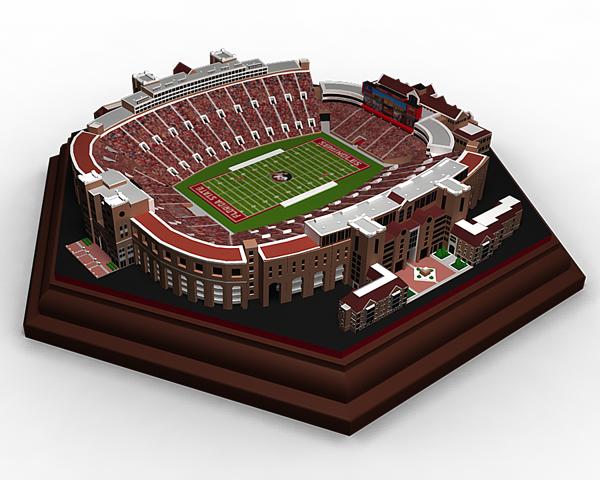 hot sale online be1f1 977cd 3D printing brings amazing photo-realistic NCAA stadium ...