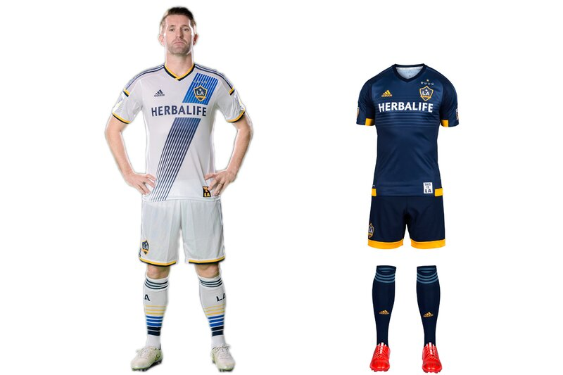 After several overhauls—LA wore black and teal, then teal and yellow, then yellow and green—the Galaxy's white and blue brand has taken root. Three championships in four years certainly help. The sash on the home uniform, re-introduced in 2012, has quickly become iconic, and, along with the socks, helps make this all-white kit stand out. The new secondary set maintains the same feel as its recent predecessors. The yellow accents look sharp, but we can't help but feel a white or yellow sash would tie the uniforms and brand together.