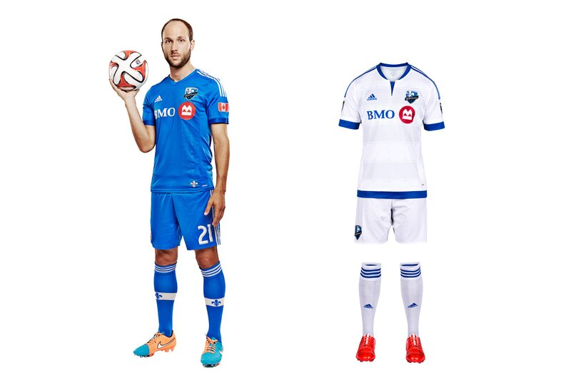 Montreal exemplifies MLS/Adidas' fixation on tiny details rather than the impact (sorry) a uniform makes when viewed from more than three feet away, which is where most people watch a game. The new away kit features a tiny silver fleur-de-lis affixed to the back and more woven subtly into the fabric. But overall, it's just another anonymous all-white uniform that mirrors the existing, plain blue primary set. The tragedy is that Montreal's gorgeous blue-and-black striped alternate, which would be the only striped kit in MLS, is gathering dust. It should be the club's primary.