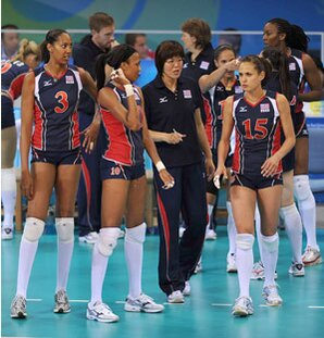 The Chinese Press Dubbed Fridays US China Womens Volleyball Game Peaceful War A Play On Names Of Coach Chen Zhonghe And