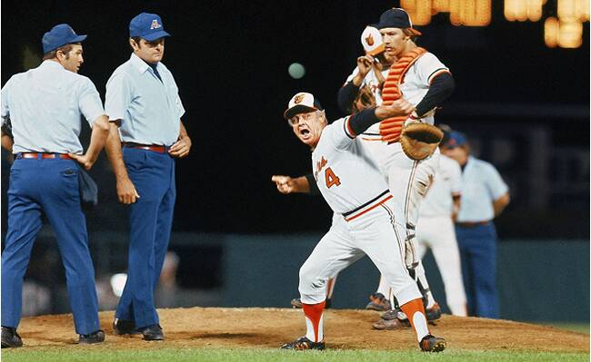 ad6897bc779 Earl Weaver led Baltimore to the World Series four times in 17 seasons but  won only