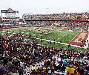 The University Of Minnesota S Tcf Bank Stadium Will Be Vikings Home In 2017 And