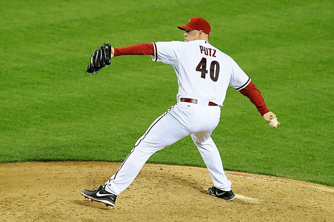 J. J. Putz has been out for the Diamondbacks since suffering a right elbow strain in May.