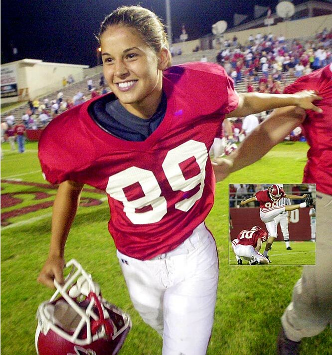 Martin became the first woman to score points in a Division I football game when she booted three extra points for Jacksonville State in a 71-0 win over Cumberland. <br><br>What Firsts in Sports would you add to the gallery? Send comments to siwriters@simail.com.