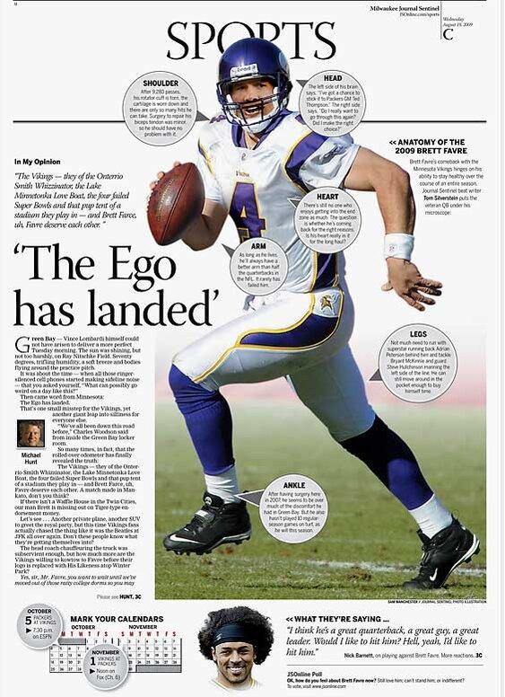 brett favre newspaper headlines com 3 of 14